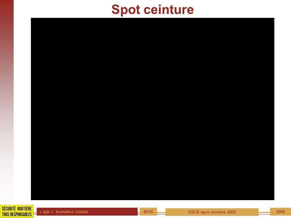 Spot ceinture « agir » formation initiale 46/56