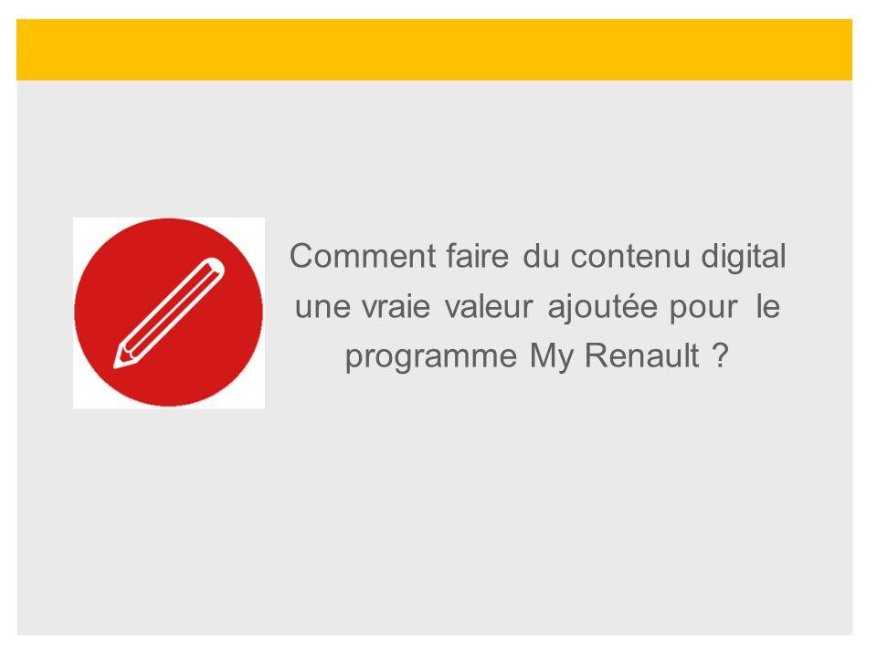 Comment faire du contenu digital une vraie valeur ajoutée pour le programme My Renault