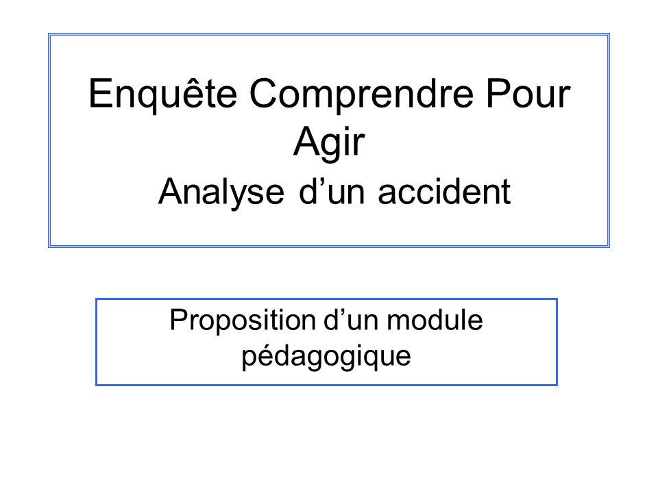 Enquête Comprendre Pour Agir Analyse d'un accident
