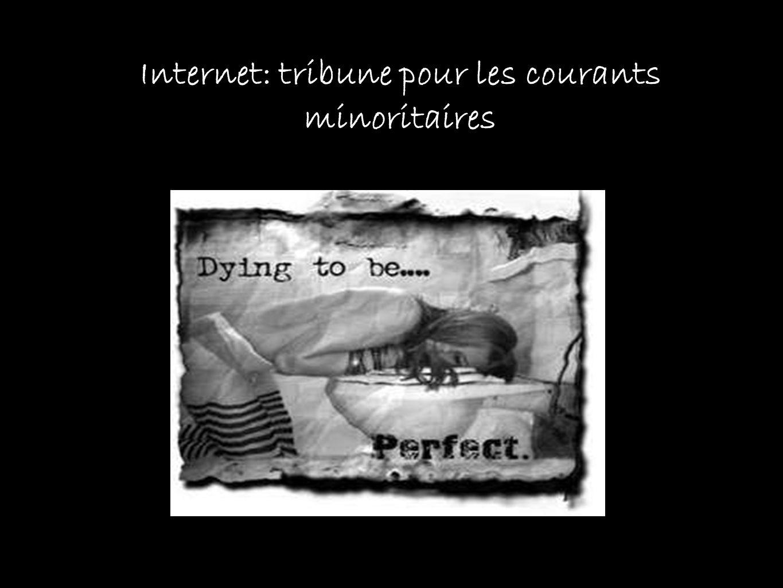 Internet: tribune pour les courants minoritaires