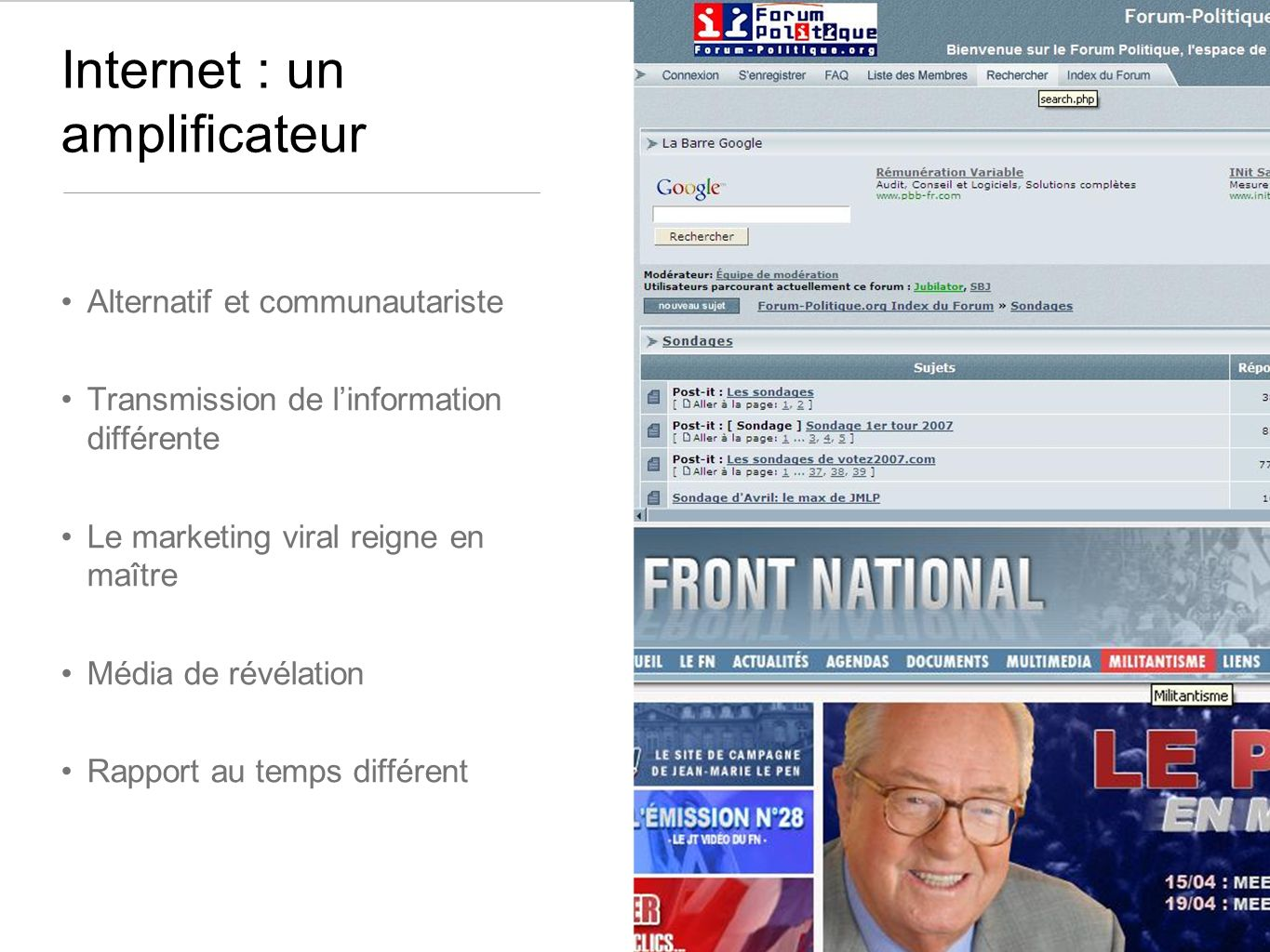 Internet : un amplificateur
