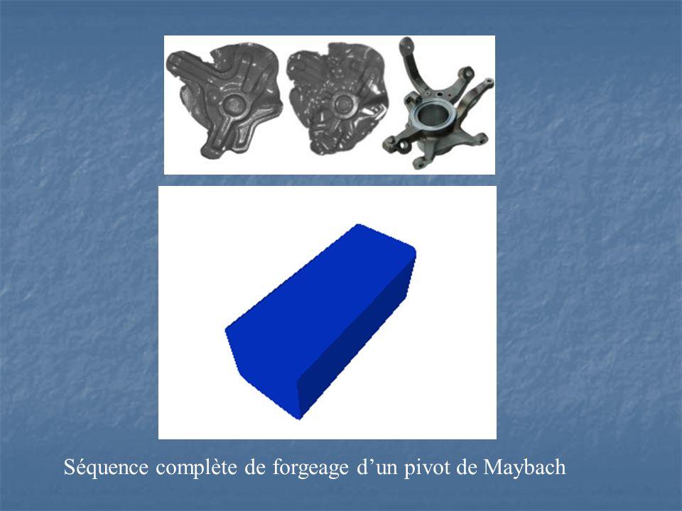 Séquence complète de forgeage d'un pivot de Maybach