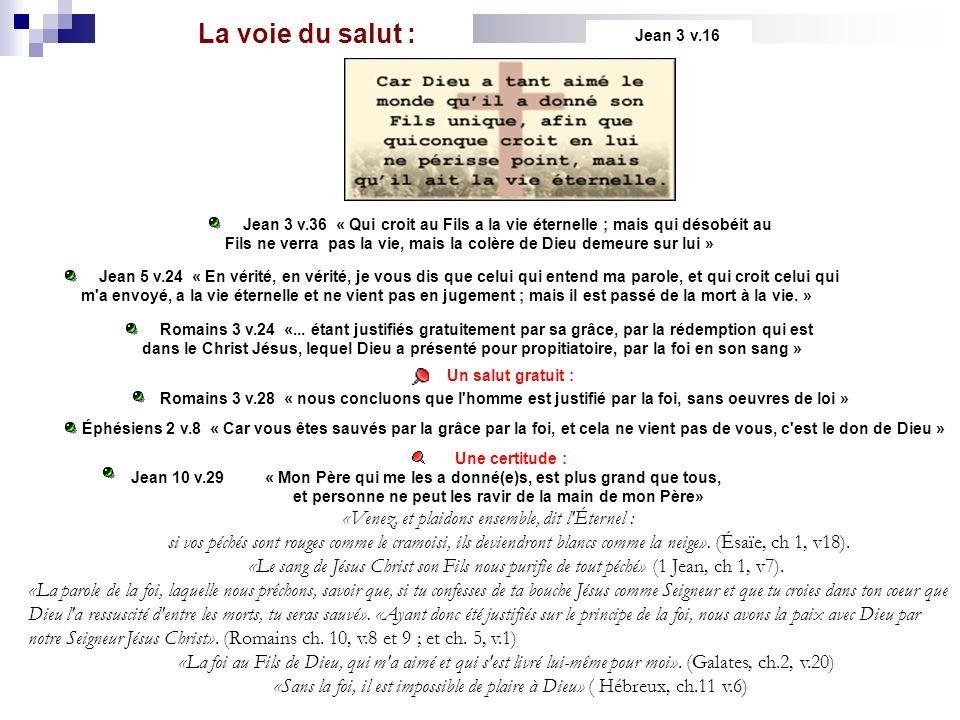 La voie du salut : Jean 3 v.16.