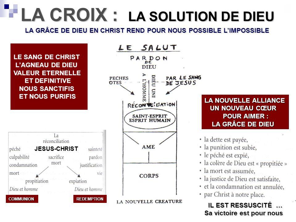LA CROIX : LA SOLUTION DE DIEU