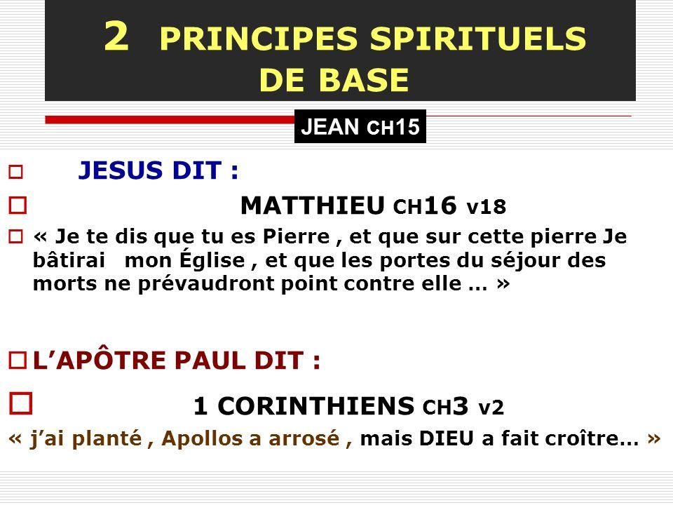 2 PRINCIPES SPIRITUELS DE BASE