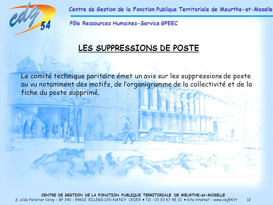 LES SUPPRESSIONS DE POSTE
