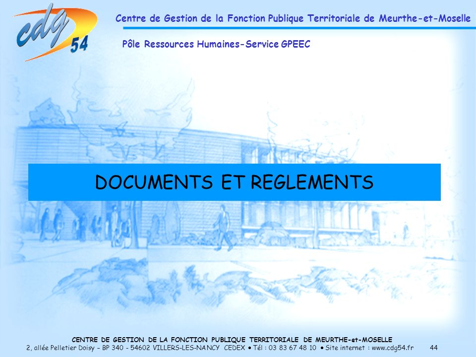 DOCUMENTS ET REGLEMENTS