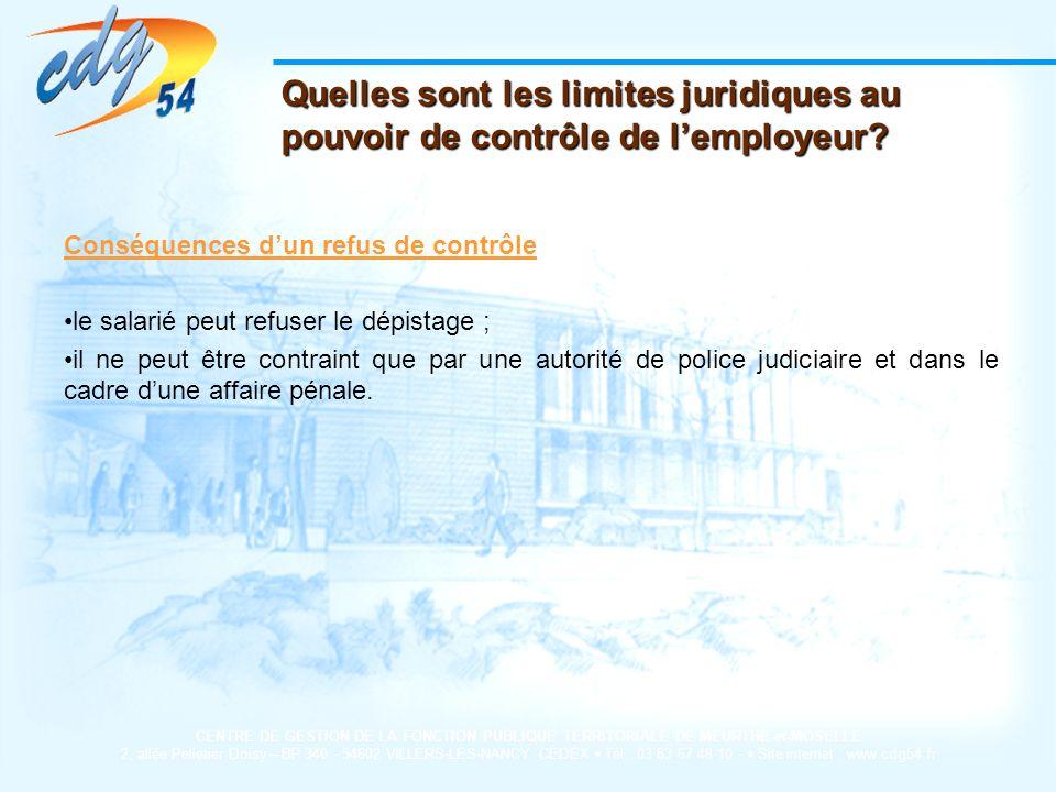 Quelles sont les limites juridiques au pouvoir de contrôle de l'employeur