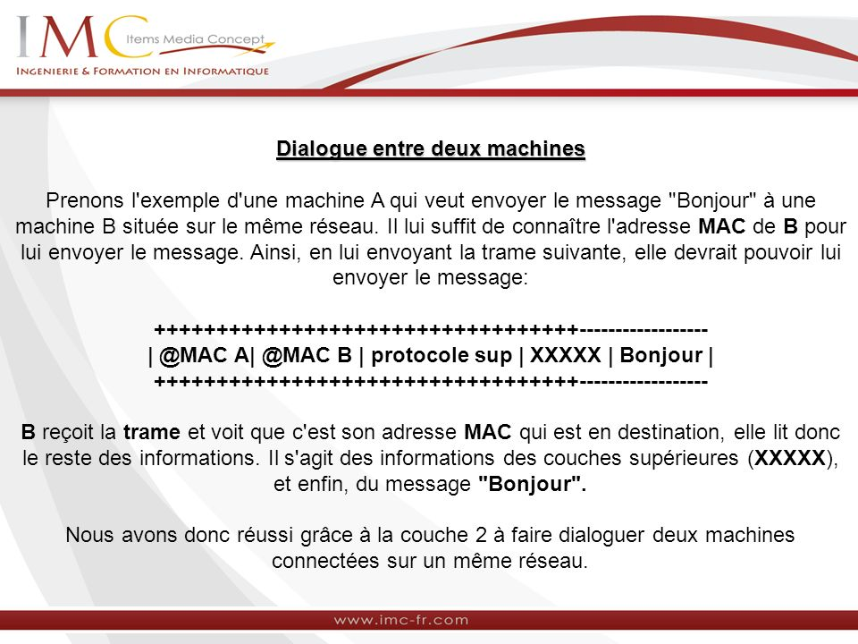 Dialogue entre deux machines