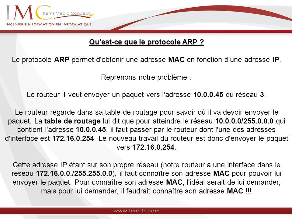 Qu est-ce que le protocole ARP