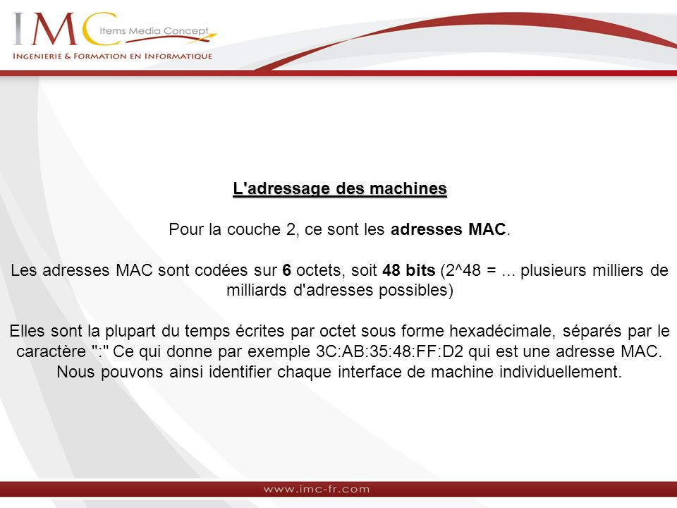 L adressage des machines