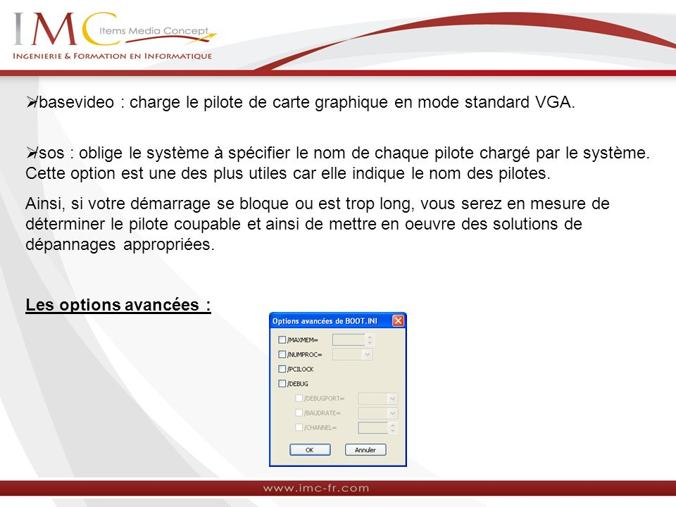 /basevideo : charge le pilote de carte graphique en mode standard VGA.