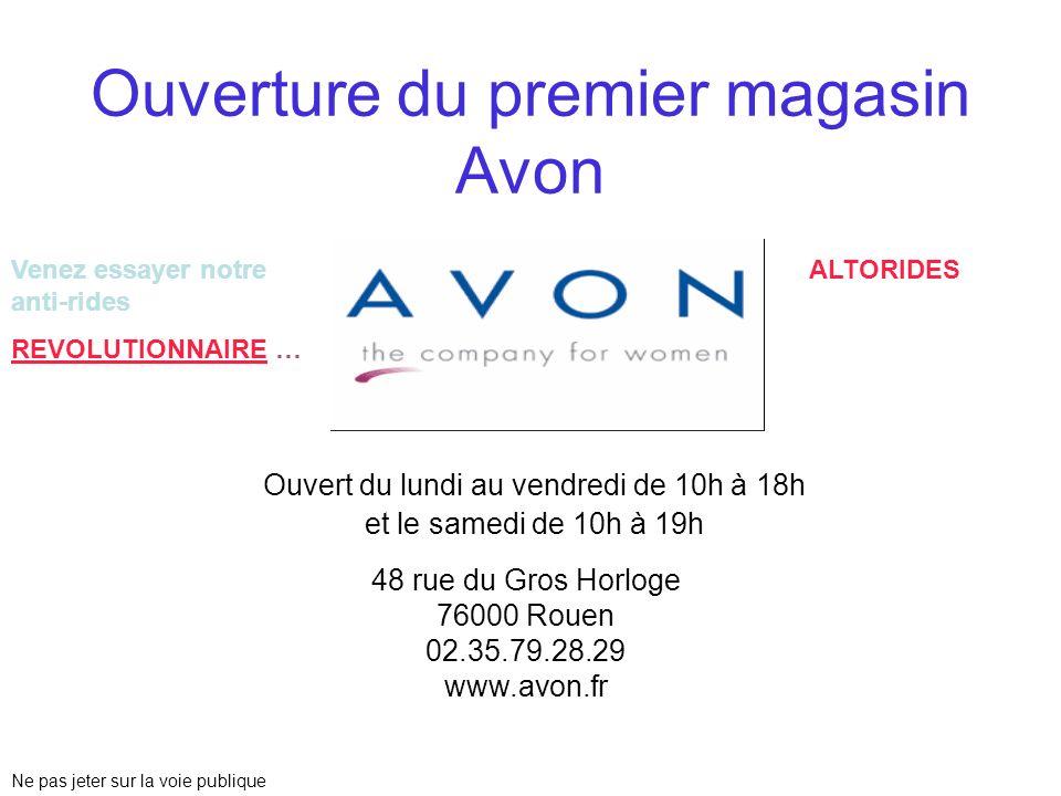 Ouverture du premier magasin Avon