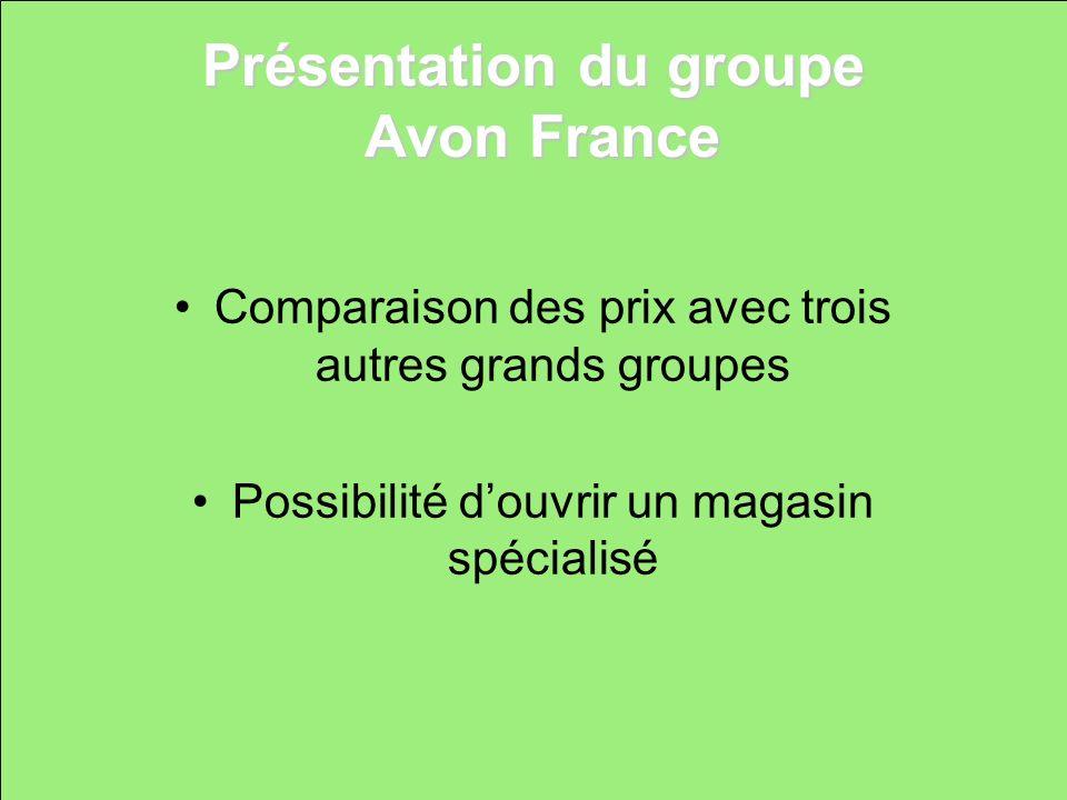 Présentation du groupe Avon France
