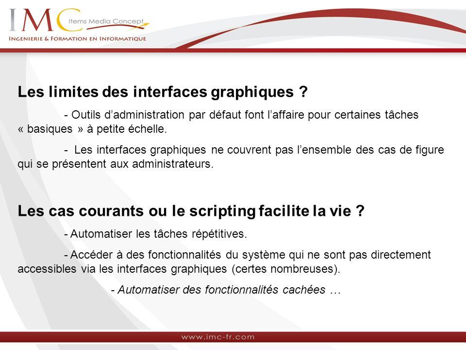Les limites des interfaces graphiques