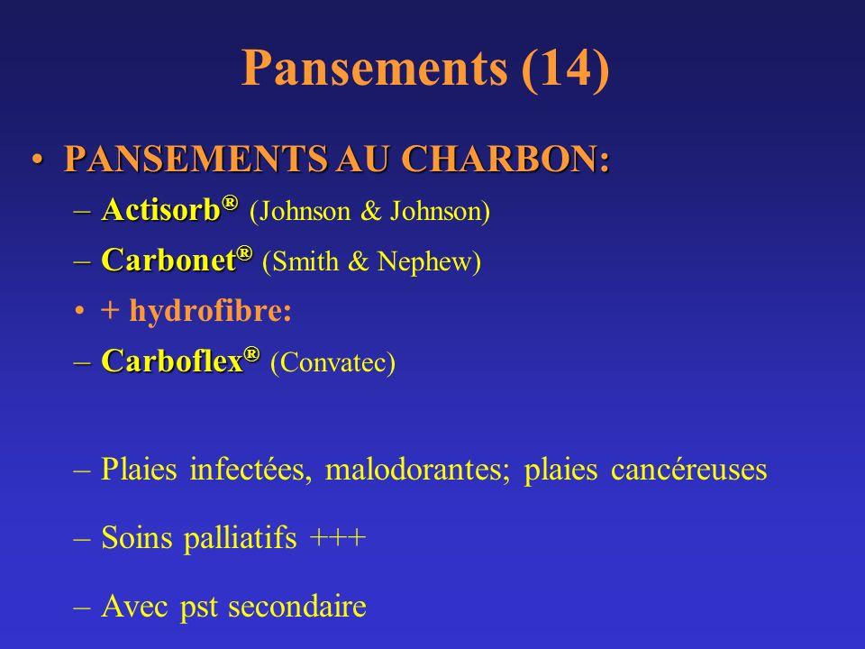 Pansements (14) PANSEMENTS AU CHARBON: Actisorb® (Johnson & Johnson)