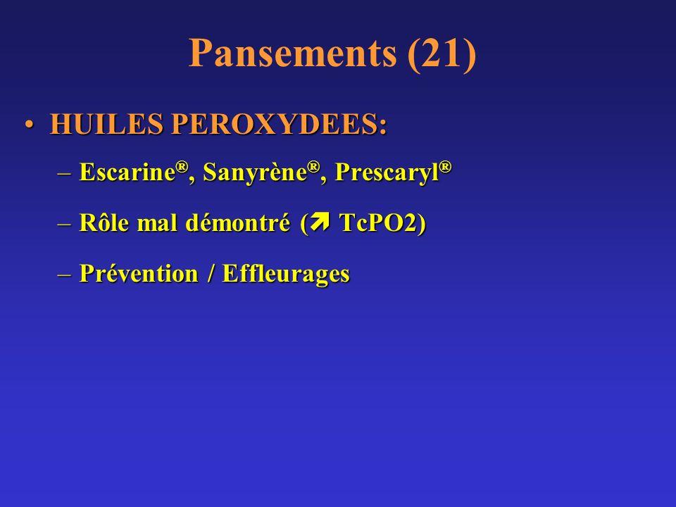 Pansements (21) HUILES PEROXYDEES: Escarine®, Sanyrène®, Prescaryl®