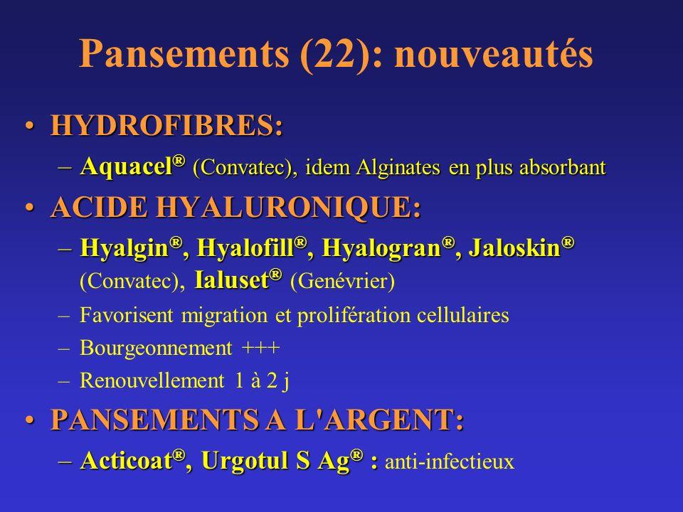 Pansements (22): nouveautés