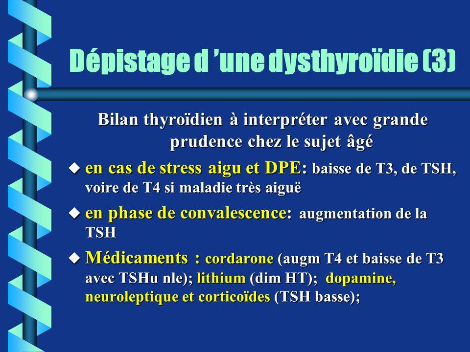 Dépistage d 'une dysthyroïdie (3)