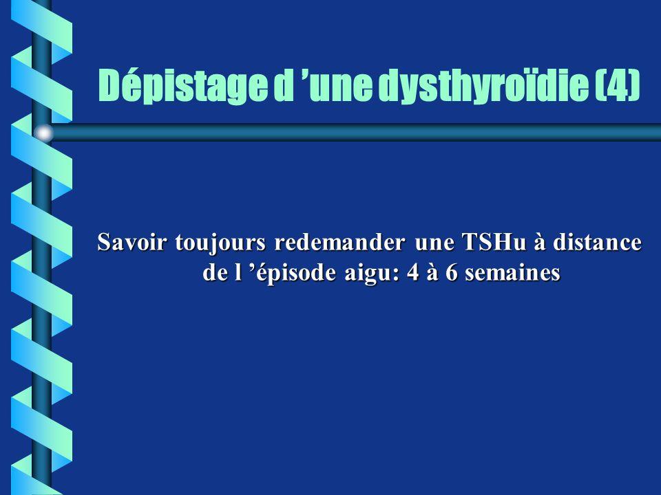 Dépistage d 'une dysthyroïdie (4)