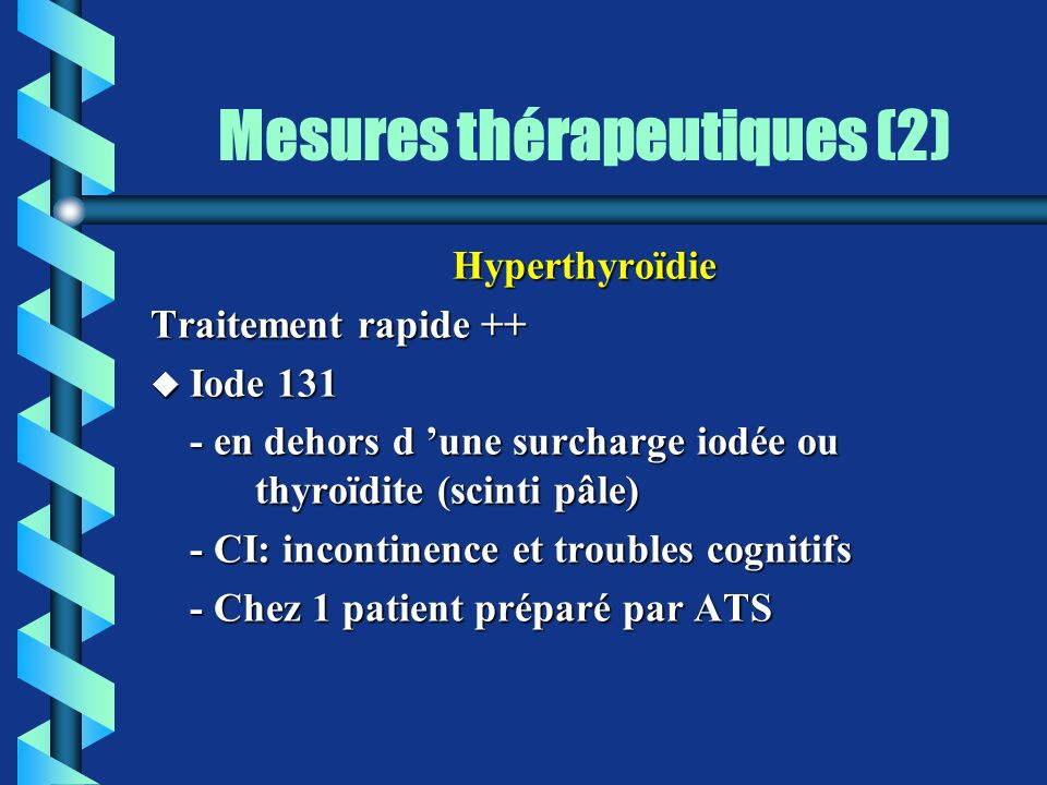 Mesures thérapeutiques (2)