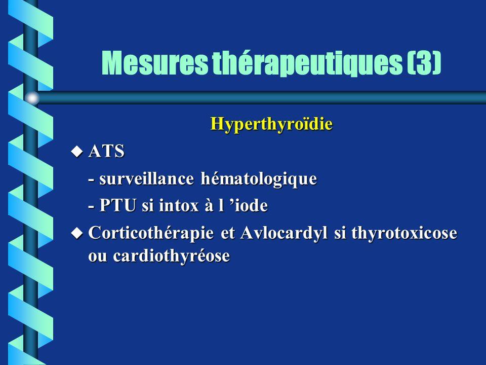 Mesures thérapeutiques (3)