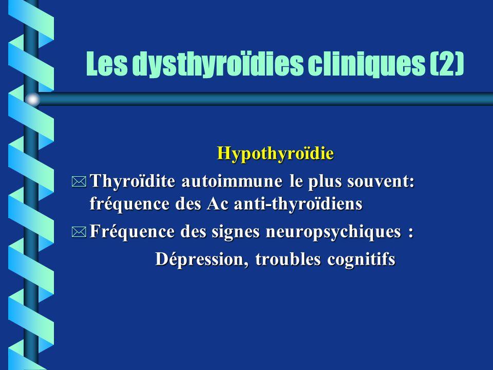 Les dysthyroïdies cliniques (2)