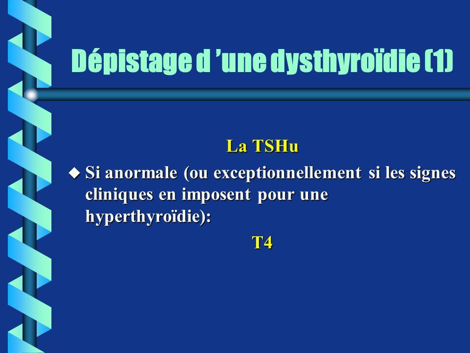Dépistage d 'une dysthyroïdie (1)