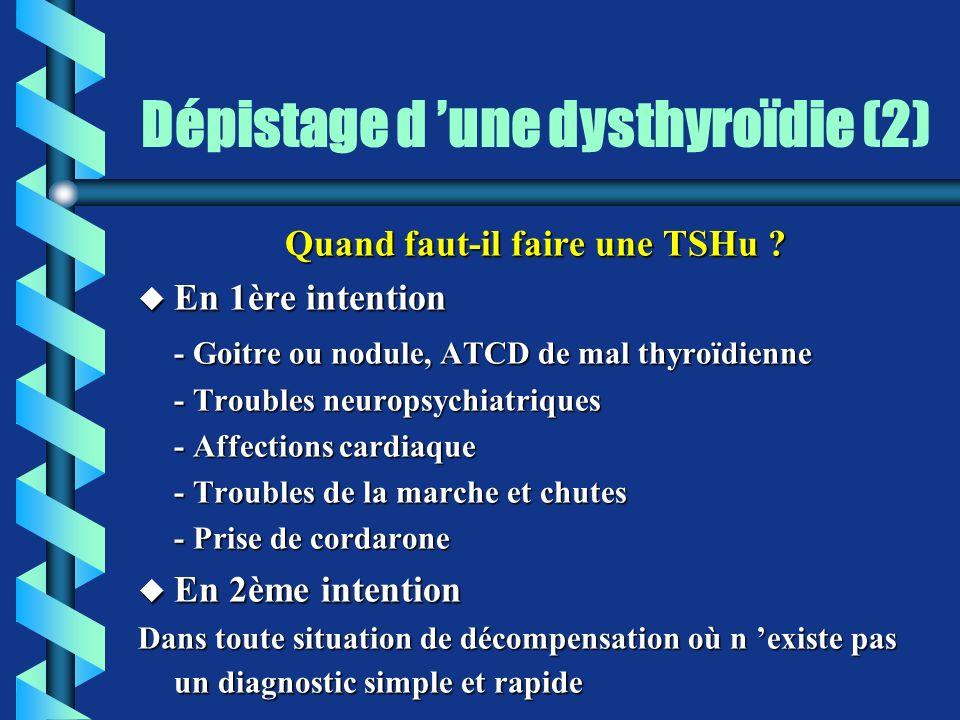 Dépistage d 'une dysthyroïdie (2)