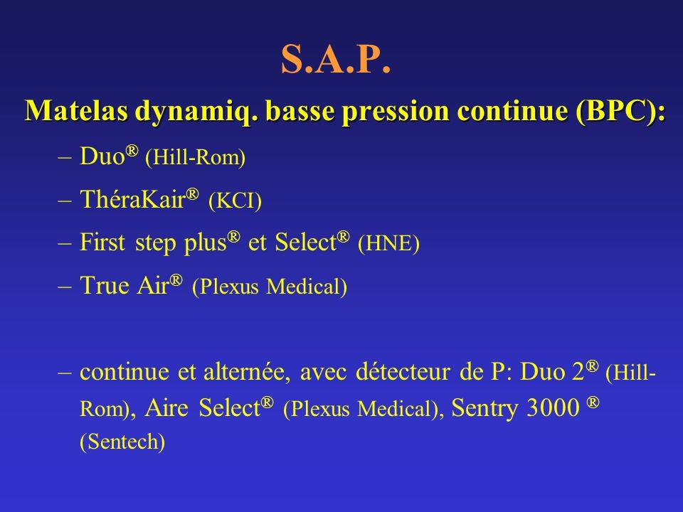 S.A.P. Matelas dynamiq. basse pression continue (BPC): Duo® (Hill-Rom)
