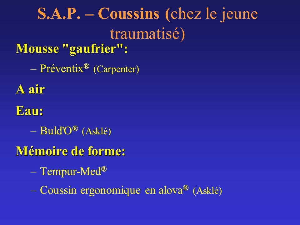 S.A.P. – Coussins (chez le jeune traumatisé)