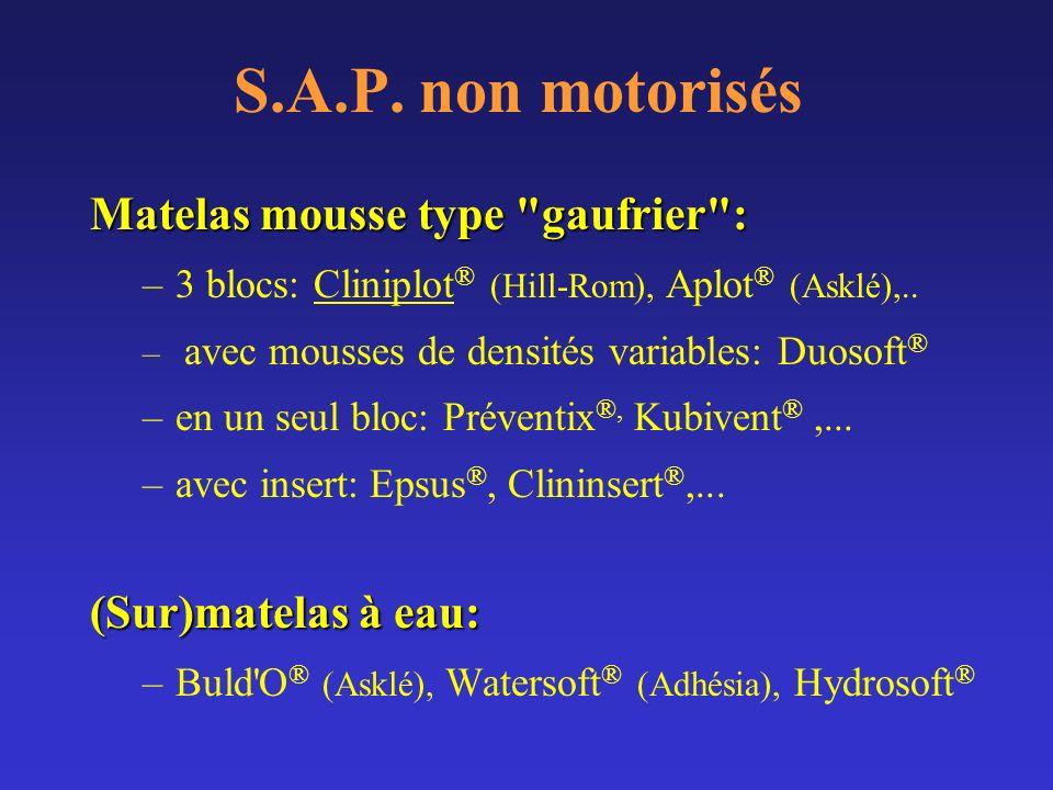 S.A.P. non motorisés Matelas mousse type gaufrier :