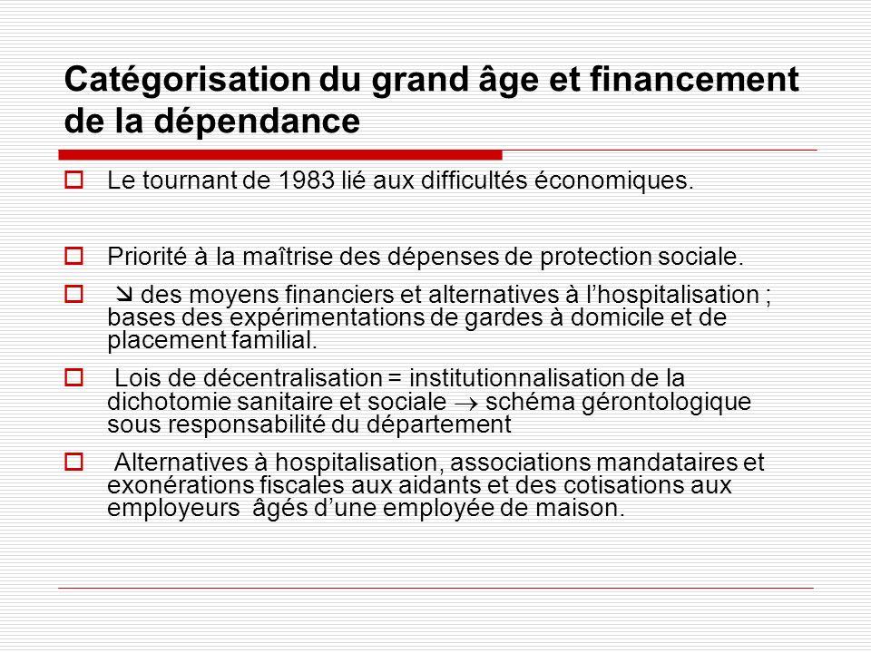 Catégorisation du grand âge et financement de la dépendance