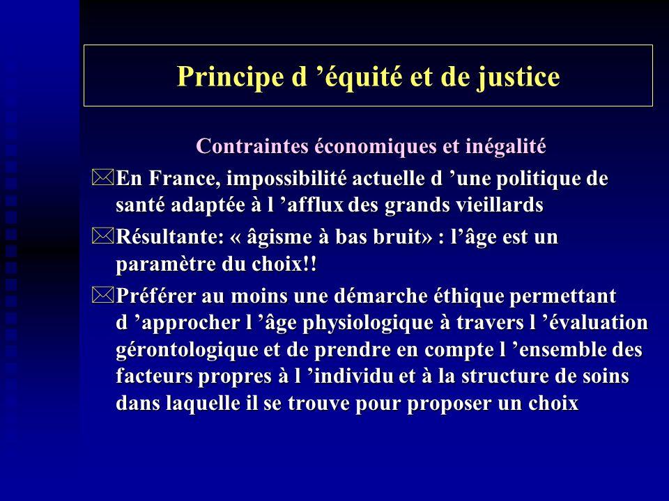 Principe d 'équité et de justice