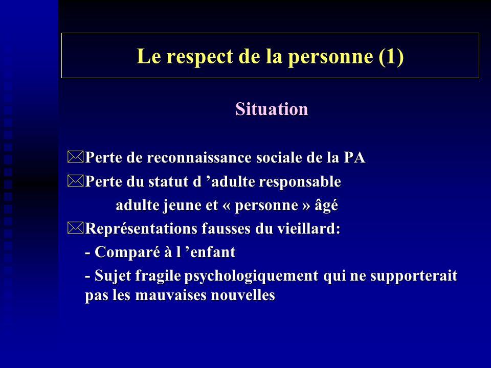 Le respect de la personne (1)