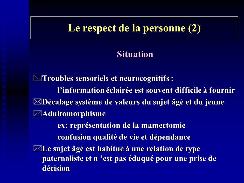 Le respect de la personne (2)