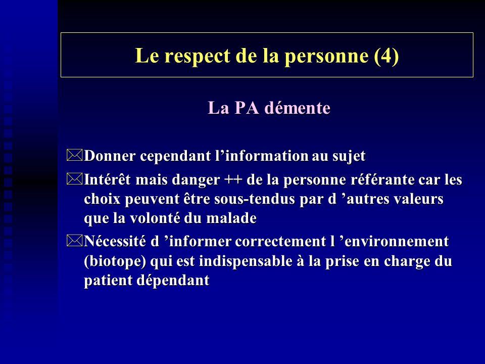 Le respect de la personne (4)