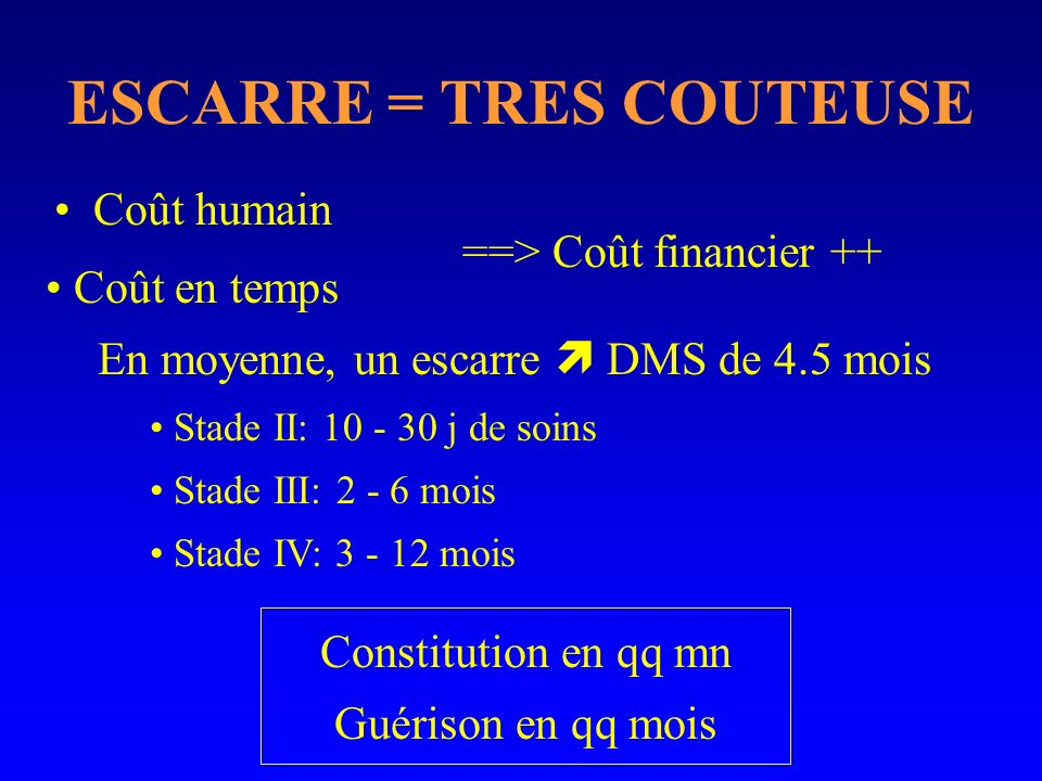 ESCARRE = TRES COUTEUSE