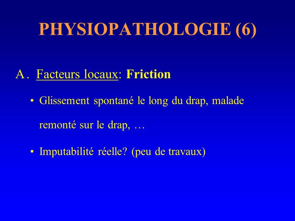 PHYSIOPATHOLOGIE (6) . Facteurs locaux: Friction