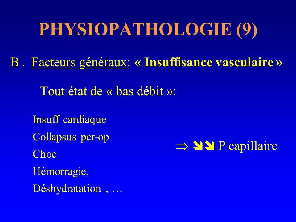 PHYSIOPATHOLOGIE (9) . Facteurs généraux: « Insuffisance vasculaire »