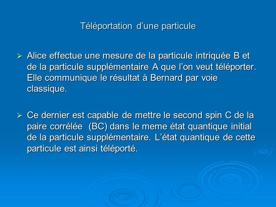 Téléportation d'une particule