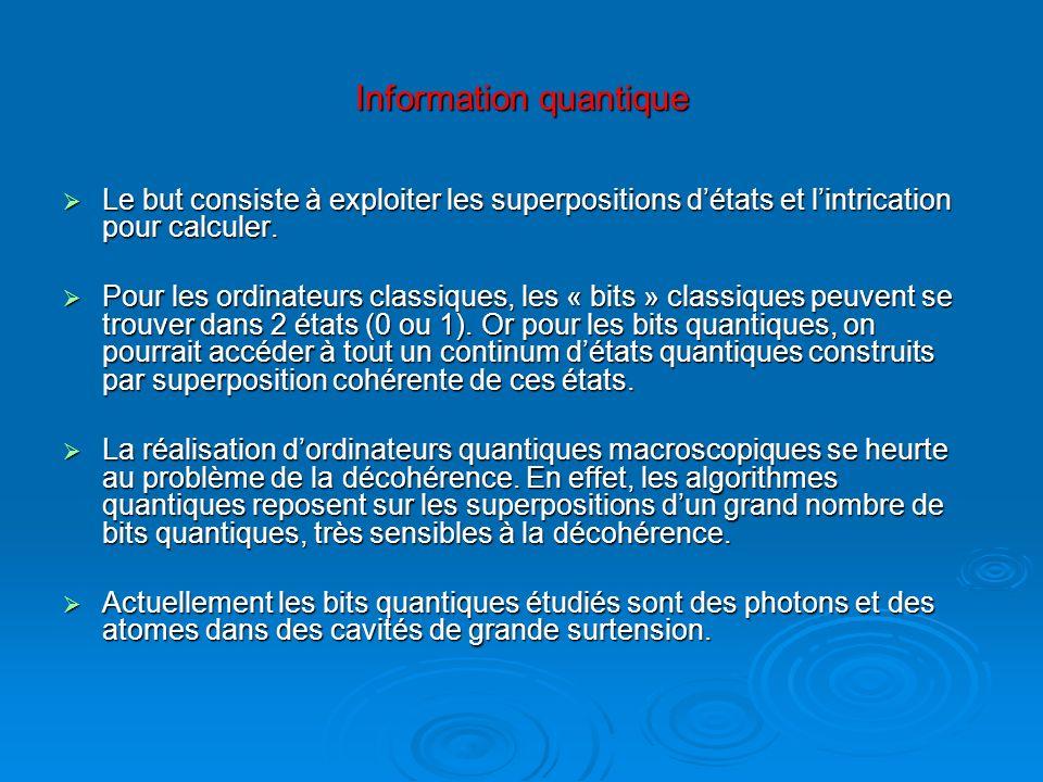 Information quantique