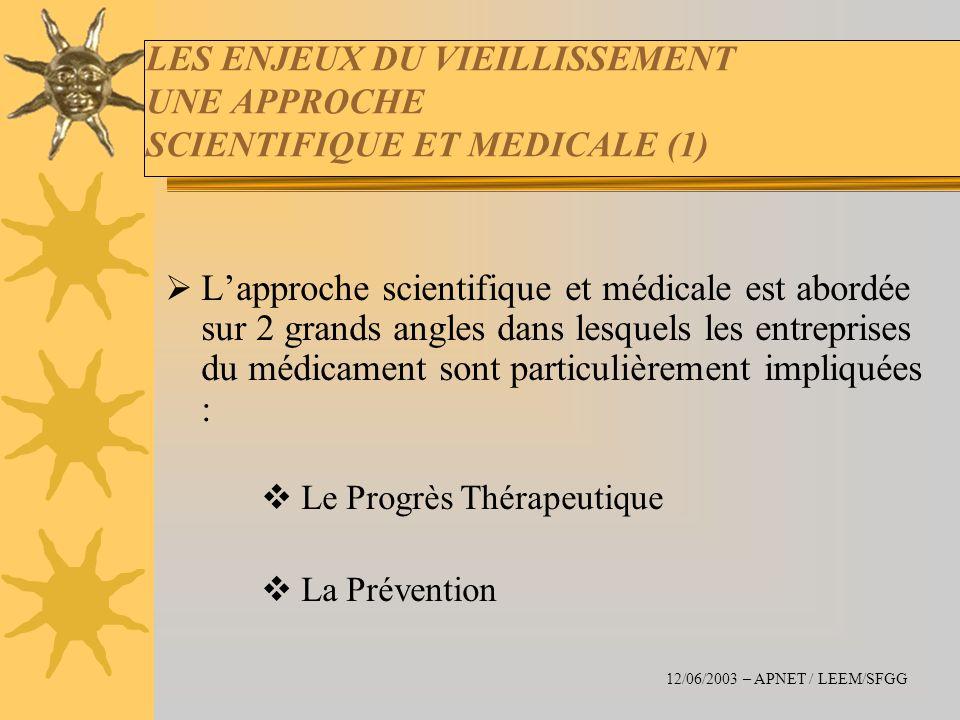 LES ENJEUX DU VIEILLISSEMENT UNE APPROCHE SCIENTIFIQUE ET MEDICALE (1)