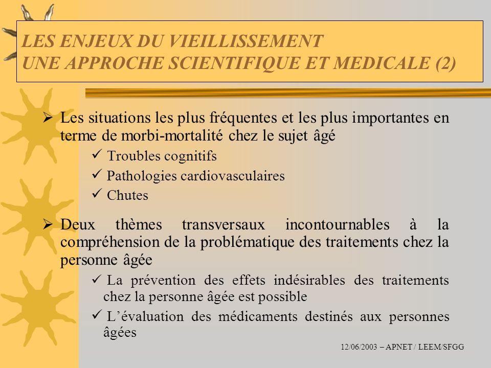 LES ENJEUX DU VIEILLISSEMENT UNE APPROCHE SCIENTIFIQUE ET MEDICALE (2)