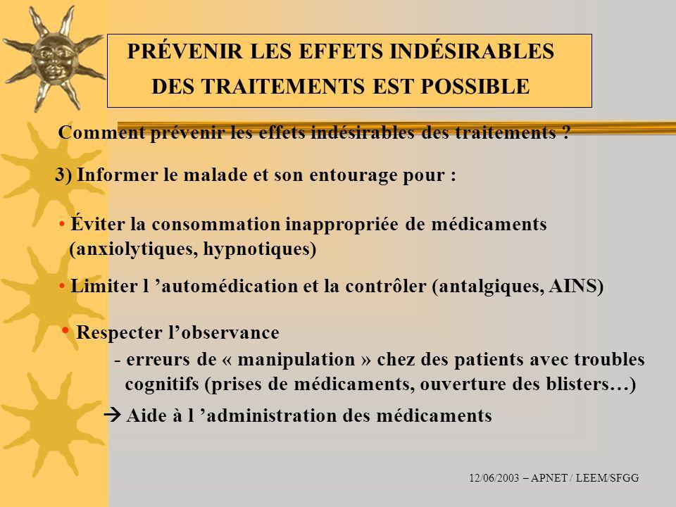PRÉVENIR LES EFFETS INDÉSIRABLES DES TRAITEMENTS EST POSSIBLE