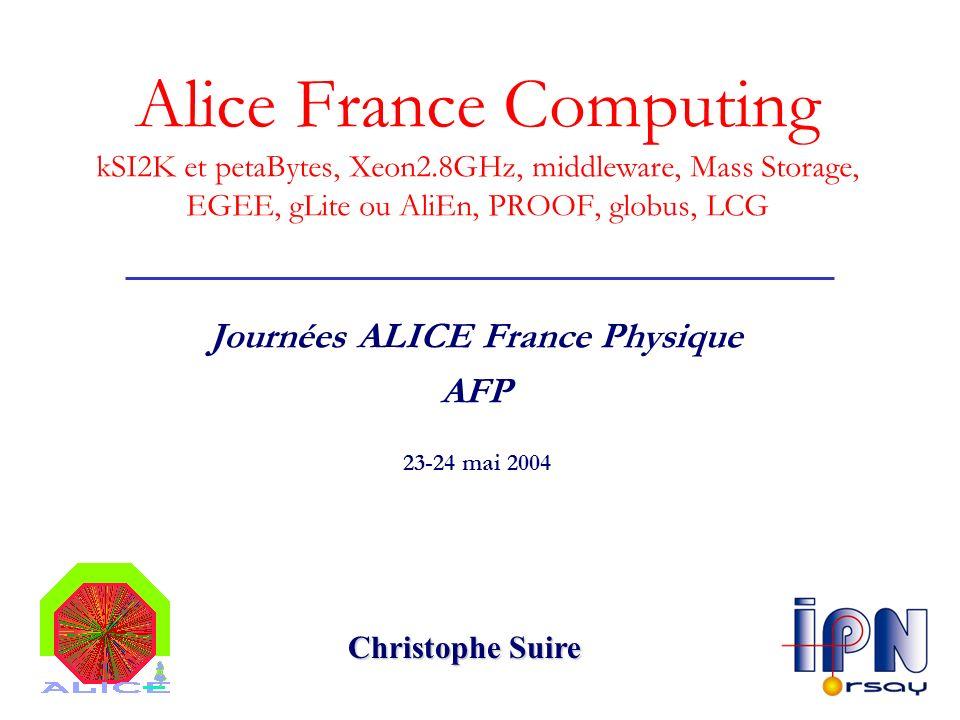 Journées ALICE France Physique AFP
