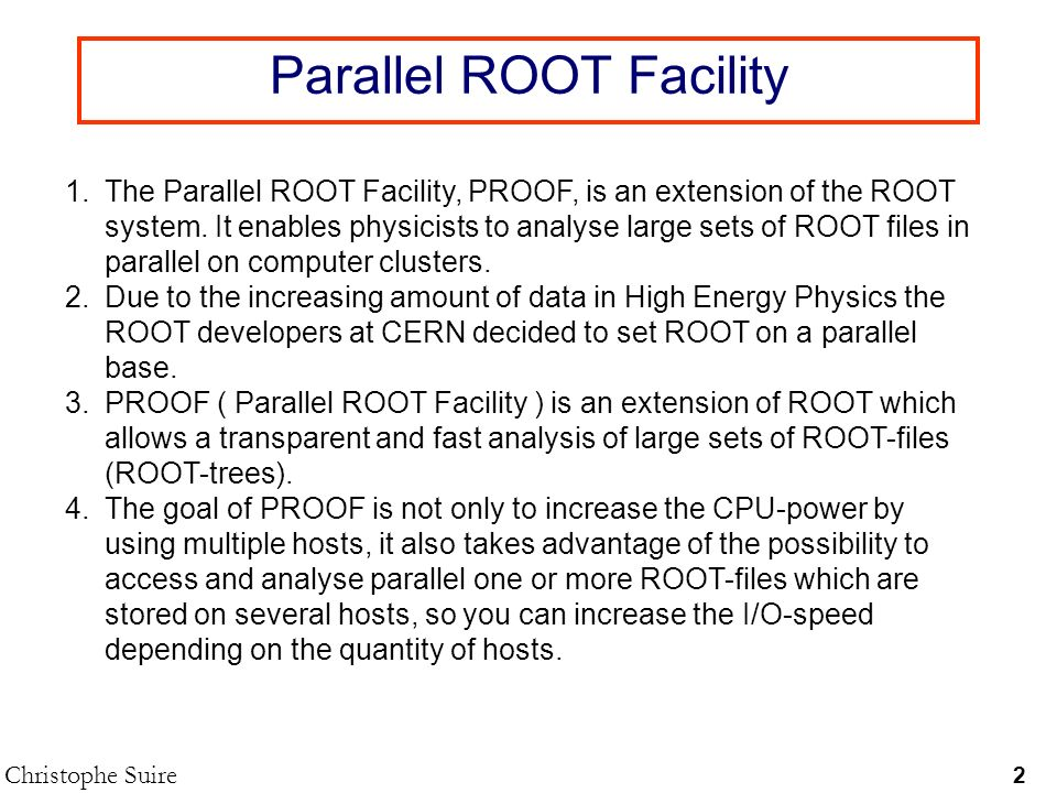 Parallel ROOT Facility
