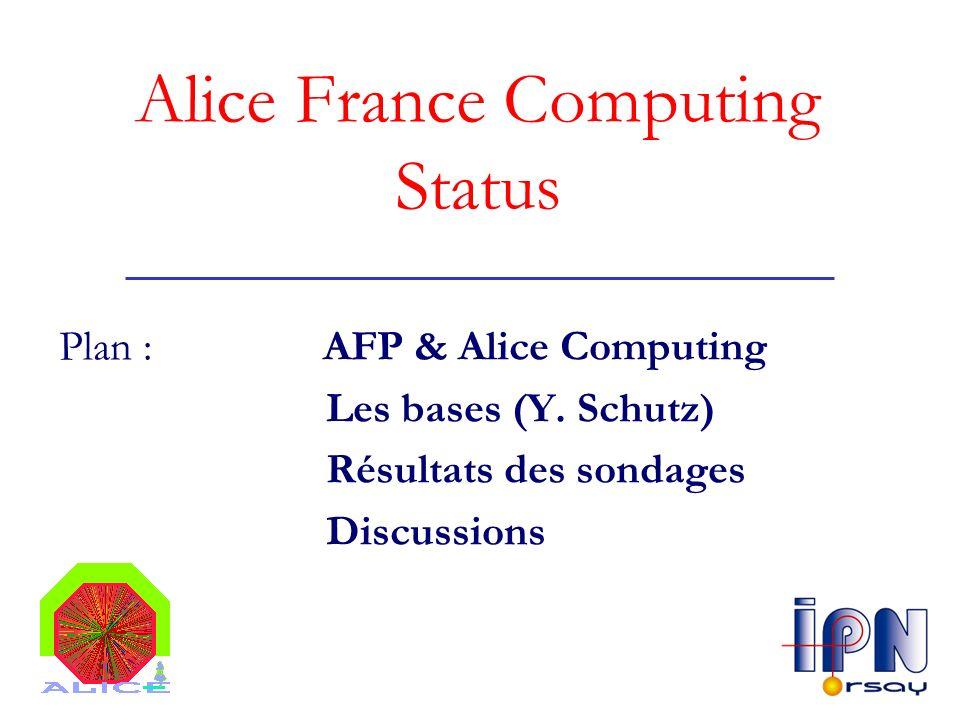 Alice France Computing Status