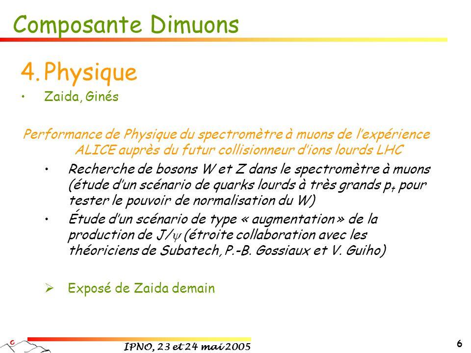 Composante Dimuons Physique Zaida, Ginés