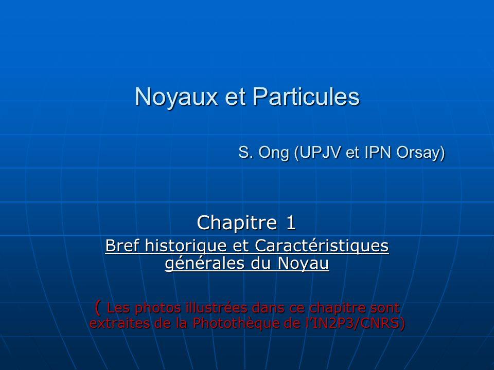 Noyaux et Particules S. Ong (UPJV et IPN Orsay)